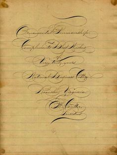 Penmanship like no other