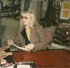 Cynthia Lennon at Cavendish House Department Store in Cheltenham, England in March, 1985 and with Barbara Orbison at Abbey Road Studios in 2010.