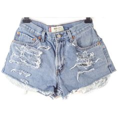 Distressed Mid to High Waisted Cut Off shorts/plus size/jean... ($24) ❤ liked on Polyvore featuring shorts, silver, women's clothing, high-waisted jean shorts, distressed jean shorts, denim shorts, black shorts and distressed denim shorts