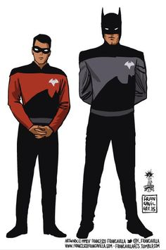 Oh no, Robin's a red shirt, he probably won't make it make it back at the end of the mission (bat-trek) Xx
