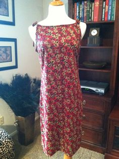 Shift/Sun Dress With Floral Motif by B Moss Wear by pdee5069, $8.89
