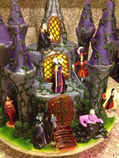 Evil villain castle cake