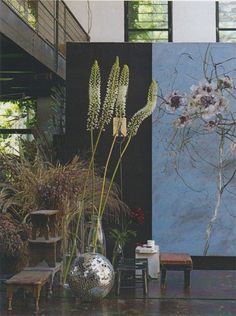 Claire Basler's studio - Paris. Captivating! I'd love to visit the studio and the painter