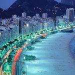 Copacabana Beach, Rio de Janeiro, Brazil cities at night Countries To Visit, Countries Around The World, Cool Countries, Around The Worlds, Copacabana Beach, Brazil Cities, Brazil Country, Country Information, Living In Brazil