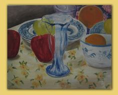 Quick Study Fruit and Glass Oil Painting by Dehazeld on Etsy, $50.00