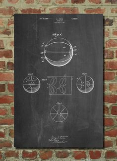 Basketball Patent Wall Art Poster This patent poster is printed on 90 lb. Cardstock paper. Choose between several paper styles and multiple sizes.