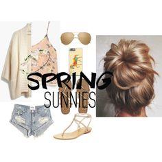 Spring Sunnies by tiffanybertharia-fanbert on Polyvore featuring Madewell, Azalea, One Teaspoon, Billabong, Pelle Moda and Linda Farrow