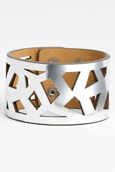 Vince Camuto Cutout Metallic Leather Cuff