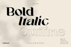 Typography Inspiration, Graphic Design Inspiration, Modern Typeface, Font Packs, Bold Italic, Graphic Design Branding, Premium Fonts, Creative Art, Layout Design