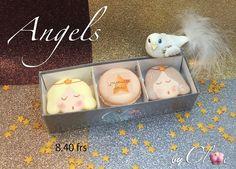 Macarons-Anges, saveurs vanille, caramel beurre salé, chocolat Macarons, Saveur, Caramel, Collections, Butter, Vanilla, Chocolates, Noel, Sticky Toffee