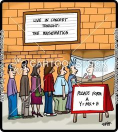 Concert goers form a line to see The Mathematics.
