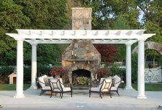 outdoor fire place #pergolafireplace