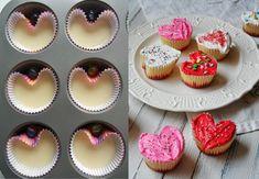 Cupcakes Saint Valentin, Saint Valentin Diy, Cadeau St Valentin, Valentine Day Cupcakes, Valentine Desserts, Mini Cupcakes, Cupcake Cookies, Valentine Nails, Saint Valentine
