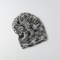 AEO Slouchy Pointelle Beanie (50 BRL) ❤ liked on Polyvore featuring accessories, hats, grey, slouchy hat, grey hat, gray beanie, grey beanie hat and brimmed beanie