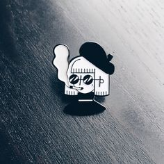 Too cool for Art School 30mm soft-enamel pin in black finish with black rubber clasp. Shipping from the UK Thanks for stopping by! ✌️