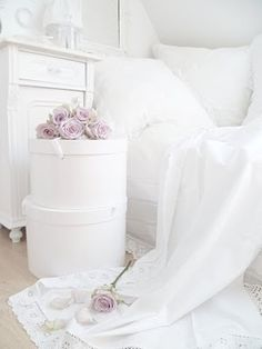 Someday...after the kids are gone, I will have a white room.