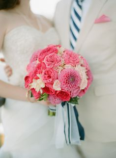 LOVE These flowers - the pink and the dahlias especially