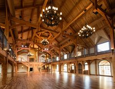 Beautiful Grand Hall of Heartlland Place at Ranch 81 in Enid, Oklahoma. reception hall near me Bar Design, Design Case, House Design, Le Ranch, Best Barns, Rustic Wedding Venues, Wedding Barns, Wedding Reception, Dream Barn