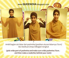 Queenova: Tutorial Scraf Pashmina: Simply Chic pt1