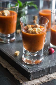 Multiculti Kitchen: GAZPACHO WITH ROASTED RED PEPPER