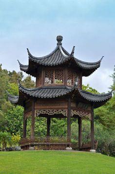 pagodas in japan | Japanese Pagoda at the Four Seasons Resort Lana'i, The Lodge at Koele