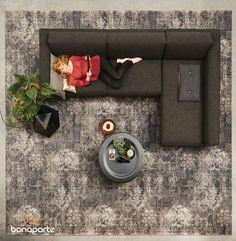 Bonaparte vloerkleden Vintage - bruin, zwart, grijs, wit