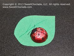 """Party Favor """"Ladybug"""" with decorated Chocolate Candy"""