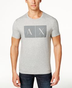 Armani exchange men 39 s signature ax embroidered logo t for Armani exchange t shirts wholesale