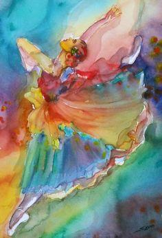 Watercolor on Paper by Alicia Savio