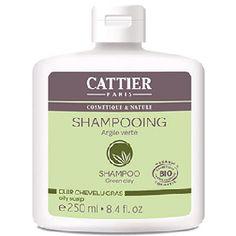 Champú de arcilla verde de Cattier, para eliminar el exceso de sebo del cabello graso - Ecobelleza, cosmética ecológica  certificada