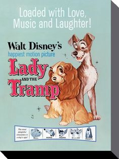 Lady and the Tramp - Disney - Love, Music and Laughter - Official Canvas Print