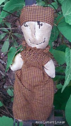 "Primitive Country Farm Lady Rag Doll ""FLO""-Primitive Country Farm Lady Rag Doll FLO valerie"