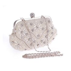 New Arrial Pearl Diamonds Evening Bag Day Clutch Female Chain Night Clubs Shoulder&Crossbody Bags Wedding Party Bag Luxury H282