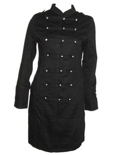 Sale Clearance 40% Off H&R Cotton Military Coat Goth 8, 10, 12, 14  BIG SALE NOW ON AT mouseyessim on ebay