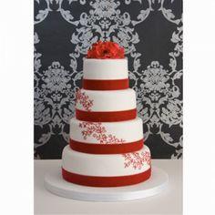 Gorgeous Red Christmas Wedding Cake Ideas - Dream Weddings on a Budget