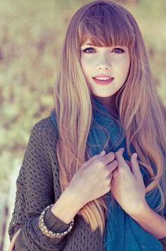 Long Hairstyles With Blunt Bangs