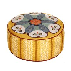 Discover the Orwell and Goode Owl Pouf - Coloured at Amara