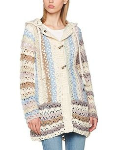 khujo Laddy Chunky Cardingan Knit, Chaqueta para Mujer, Mehrfarbig (Boho A31), 38