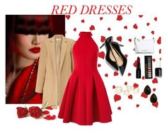 """""""red dress"""" by deboraaguirregoncalves ❤ liked on Polyvore featuring Miss Selfridge, Michael Kors, Smashbox, Forever 21, Essie, Natasha Accessories, women's clothing, women, female and woman"""
