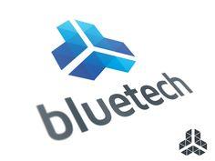 Blue Tech Logo Template by Alex Broekhuizen (The Netherlands) Logo Branding, Branding Design, Logo Design, Telecommunication Systems, Shield Logo, Graphic Design Inspiration, Brand Inspiration, Startup, Communication Design