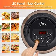 Egg Tart, Cooking Temperatures, Electric Pressure Cooker, Air Frying, Cooking Time, Healthy Choices, Instant Pot, Fries, Electric Pressure Canner