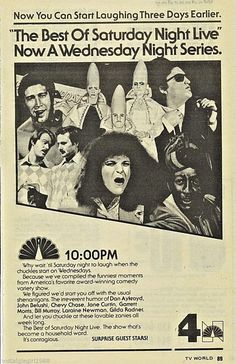 1979 Saturday Night Live Tv Ad WNBC NYC Best of Series Debut | eBay
