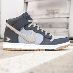 size 40 b9abd 0eb4c Nike Men Dunk High CMFT Premium (gray   anthracite   cool grey   summit  white   bamboo)