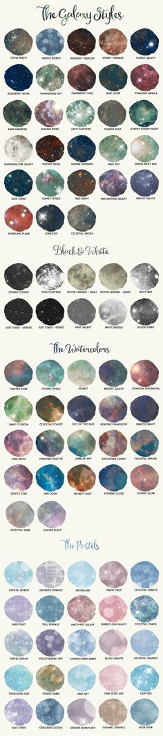 Galaxy Design Kit for Illustrator by Alaina Jensen on @creativemarket