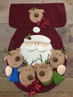 48 Amazing Hanging Ornament Ideas To Add Enliven Christmas Day - SalvabraniChristmas is a magnificent time of the year. As Christmas approaches, one can see numerous traditions flowing in the air. Christmas Clay, Christmas Sewing, Diy Christmas Tree, Christmas Crafts For Kids, Holiday Ornaments, Christmas Projects, Christmas 2016, Felt Decorations, Christmas Decorations