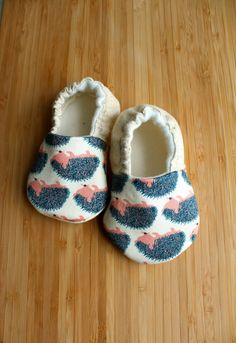 Organic baby shoes hedgehog baby porcupine baby by Ogresbyjam