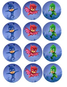 Vibrant PJ Masks photo cakes made easy with our edible cake stickers. Pj Masks Cupcake Toppers, Pj Mask Cupcakes, Los Pj Masks, Festa Pj Masks, Pj Mask Party Decorations, Party Themes, Fourth Birthday, Boy Birthday Parties, Pj Masks Printable