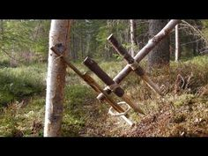 Primitive Survival Trap - The Feather Spear Trap. - YouTube