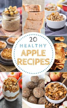 Easy to make and delicious, these 20 Healthy Apple Recipes will delight you. From desserts to snacks, these recipes make the most of this sweet fruit. All recipes are REFINED SUGAR-FREE. Apple Recipes Easy, Good Healthy Recipes, Fall Recipes, Real Food Recipes, Apple Recipe Healthy, Healthy Apple Desserts, Healthy Options, Beef Recipes, Chicken Recipes