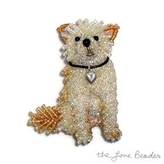 """Acquire terrific ideas on """"poodle dogs"""". They are actually readily available for you on our website. Dog Jewelry, Seed Bead Jewelry, Pendant Jewelry, Seed Beads, Beaded Jewelry, Vintage Costume Jewelry, Vintage Costumes, Dog Crafts, Dog Pin"""